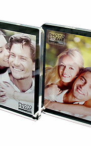 """4 """" x 6 """" Creative Acrylic Double-faced Table Picture Frame Composition,Set of 4"""