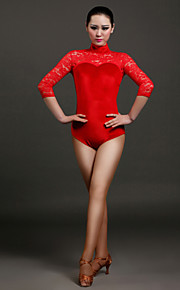High-quality Velvet and Lace Latin Dance Leotards for Women's Performance(More Colors)