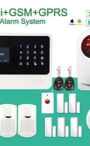 sicurezza G90B wifi senza fili del sistema di allarme gsm wifi + GSM + GPRS con la sirena Stobe wireless