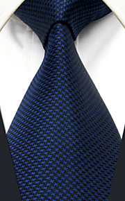 Men's Tie Navy Blue Dots Fashion 100% Silk  Business