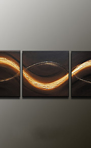 Hand-Painted Abstract Landscape Modern Oil Painting , Canvas Three Panels