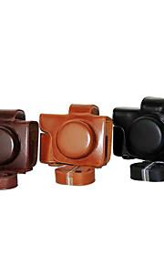 dengpin pu læder kamerataske taske dækning for olympus e-m10 mark ii EM10 Mark2 (14-42mm ez linse (assorterede farver)