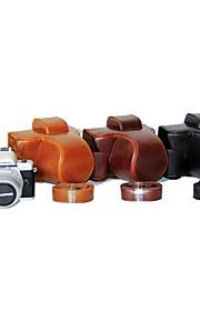 dengpin pu læder kamerataske taske cover med skulderrem til olympus e-m10 mark ii EM10 Mark2 (assorterede farver)