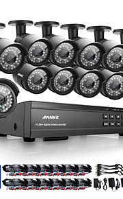 annke® 16ch HD 1080p udendørs CCTV hjem sikkerhed kamera system dvr videooptagelse
