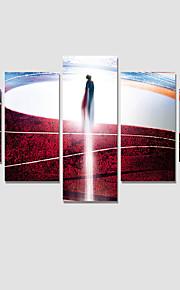 Personnage / Fantaisie / Moderne Toile Cinq Panneaux Prêt à accrocher , Format Horizontal