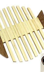 1 PCS Bambu Pyöreä Placemats / Coasters Sisustus