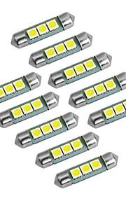 youoklight guirlande 36mm 1w 60lm 3x5050 SMD 60lm 6000-6500k hvidt lys LED pære bil lampe (DC 12V)