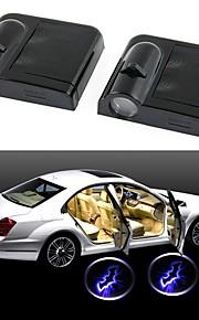 ziqiao draadloze autodeur welkom licht 2 gemonteerd zwart (BAT)