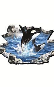 חיות / אנימציה מדבקות קיר מדבקות קיר תלת מימד,PVC 90*60cm