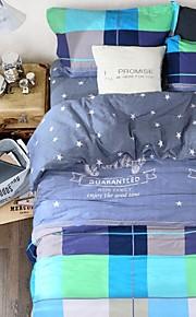 편안한 패션 침구 시리즈 4PC 이불 커버 세트, 퀸 사이즈