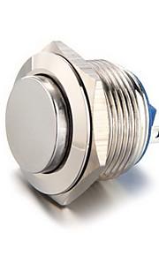 19mm 12v kortstondige drukknop metalen schakelaar voor auto zilver