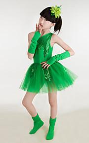 Performance Children's Performance Cotton / Polyester Sequins Dresses Dance Costumes