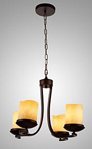 MAX60W Traditionnel/Classique Style mini / Candle style Peintures Métal Lustre Salle de séjour / Chambre à coucher / Cuisine