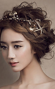Bride's Gold Seafish Shape Wedding Hair Jewelry Accessories Forehead