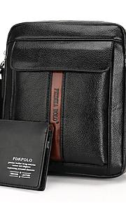Коричневый / Черный-Сумка на плечо / Сумка-портфель / Кошелек-Для мужчин-Полиуретан-Сумка посыльного