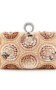 Белый / Золотистый-Вечерняя сумочка-Для женщин-Полиэстер-Минодьер