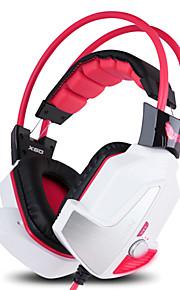 3,5 mm-kontakt kablede hodetelefoner (hodebånd) for datamaskinen (ingen vibrasjoner)