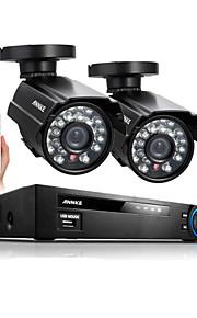 annke® 4ch 960H hdmi dvr 2 stuks 800tvl ir outdoor weerbestendige CCTV camera binnenlandse veiligheid systeem kits met 1TB