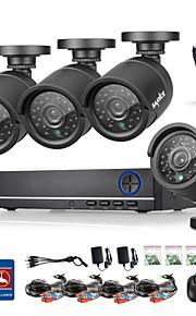 sannce® 4ch ahd dvr 4 stuks 720p ir 4 l beveiliging dvr recorder binnenlandse veiligheid surveillance kits CCTV-systeem