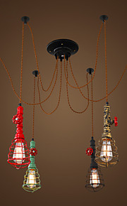 6 Lights Vintage Pendant Lights/E26/E27 Max 60W/Waterpipe Design/ Coffee Bar/Restaurant Lights