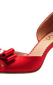 Красный / Цвета шампанского-Свадебная обувь-Женский-С открытым носком / Туфли д'Орсе-Сандалии-Свадьба / Для праздника / Для вечеринки /