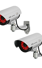 kingneo 2 stuks wit fake dummy dome CCTV-camera LED-licht