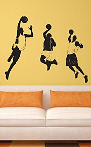 Playing Basketball Sports Star Personality Living Room Bedroom Wall Stickers Decorative Sticker Boy