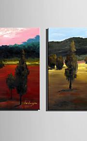 mini e-hjem olje maleri moderne skogen ren hånd trekke rammeløs dekormaling