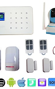 gsm fili chiamata di sistema di allarme antifurto casa sicurezza sms app + alarma wifi telecamera IP 720p HD visione notturna PTZ