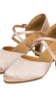 Sapatos de Dança(Preto / Rosa) -Feminino-Personalizável-Latina / Jazz / Moderna / Salsa / Samba / Sapatos de Swing