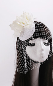 Women's / Flower Girl's Feather / Rhinestone Headpiece-Wedding / Special Occasion / Casual Fascinators1
