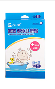 qihuitang® 10pc babyen spedbarn svømming bade infisere sikker navle lim