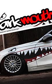 """una dimensione di 60 """"* 20"""" cool bocca dei denti di squalo Ho decalcomanie di carrozzeria auto adesivo riflettente (1 coppia)"""