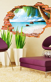 Botanical Wall Decals Landscape Wall Stickers 3D Wall Stickers,PVC 60*90CM