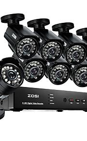 Zosi @ 8-kanaals 960H hdmi dvr 8 stuks 800tvl outdoor cctv binnenlandse veiligheid camera systeem