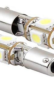 2 stuks 12v 5W witte kleur geleid geleid zijmarkeringslamp, BA9S can-bus LED leeslamp, kentekenplaatverlichting