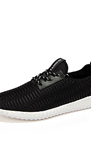 Men's Shoes Casual/Travel/Running Tulle Leather Fashion Sneakers Shoes Black/White/Bule 39-44