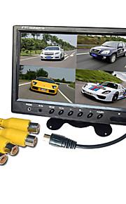 9 inch quad-TFT-LCD auto achteruitkijkspiegel-monitor met stand achteruit back-up camera van hoge kwaliteit