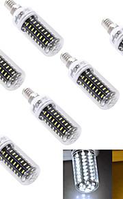 5W E14 / E26/E27 Ampoules Maïs LED T 72 SMD 4014 300 lm Blanc Chaud / Blanc Froid Décorative AC 100-240 / AC 110-130 V 6 pièces