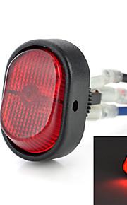 jtron rocker switch on-off geleid met rood / blauw licht - (12v / 30a)
