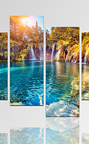 Abstracto / Fantasia / Lazer / Paisagem / Arquitetura / Fotografia / Moderno / Romântico Impressão em tela 4 Painéis Pronto para pendurar,