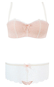 Burvogue Women's Embroidery Bras Set  Lingerie Bra and Panties