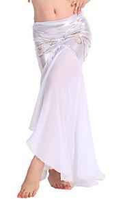 Belly Dance Bottoms Women's Performance Chiffon Crystals/Rhinestones 1 Piece Black / Blue / Light Blue / Purple / White