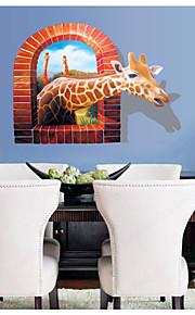 חיות / נוף / 3D מדבקות קיר מדבקות קיר תלת מימד,PVC 70*100CM