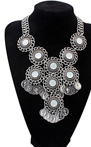New Fashion Gold Silver Metal Multi Weave Hoop Circle Pendant Long Necklace Statement Jewelry