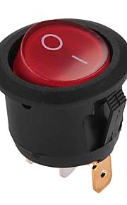 5 x rood aan-uit knop 3 pin round tuimelschakelaar auto voertuig diy
