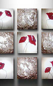 håndmalt abstrakt oljemaleri 9 stk / sett veggen kunst med strukket ramme