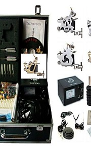 Basekey Tattoo Kit K0114 4Guns Machine With Power Supply Grips Cleaning Brush  Needles
