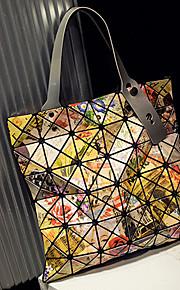 Women PVC Shopper Tote-Gold