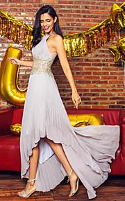 ts couture® prom formell kväll klä en linje juvel asymmetrisk chiffong med beading / drapering